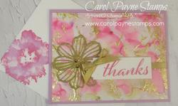 Stampin up artistically inked pink gilded carolpaynestamps1