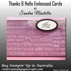 Thanks   hello embossed cards 03