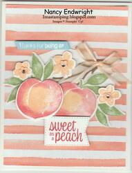 Sweet as a peach   thanks