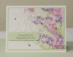 Vellum and blends fun with artistic dies