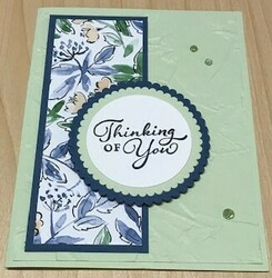 Hand penned sympathy card