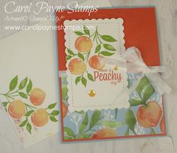Stampin up sweet as a peach carolpaynestamps1