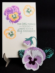 Pansy stamps and dies