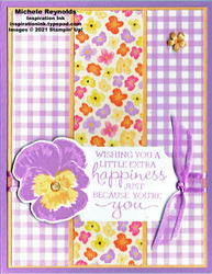 Pansy patch triptych happiness watermark