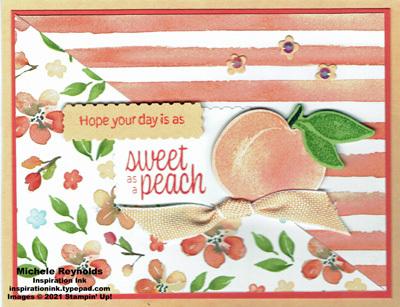 Sweet as a peach diagonal day watermark