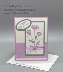 Friendship flower thank you card