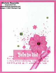 Quiet meadow kind pink flower watermark