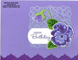 Pansy patch lacy pansy birthday watermark