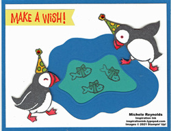 Party puffins ice pond fishing watermark