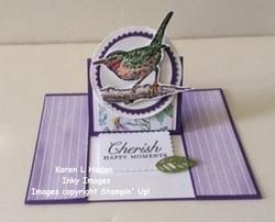 Cherish happy moments card