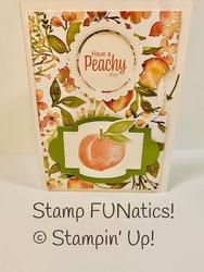 Sweet as a peach whirl card