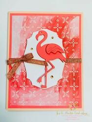 Flirty flamingo card