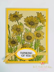 Brown eyed susans thinking of you card
