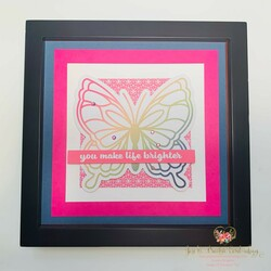 Notes of cheer butterfly card framed art