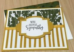 Dandy garden sympathy card