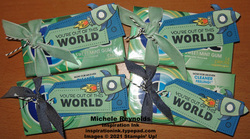 Steller birthday out of this world gum tags