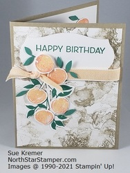 Stampin up sweet as a peach north star stamper