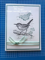 Etched bird card