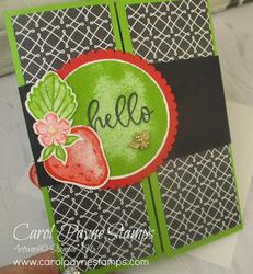 Stampin up sweet strawberry carolpaynestamps2
