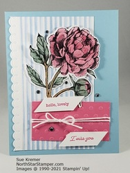 Stampin up prized peony wink card north star stamper