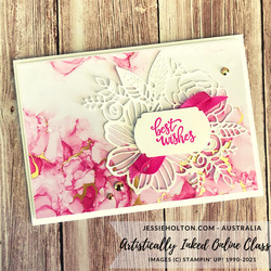 Jessie holton stampin up artistically inked expressions in ink online class 14