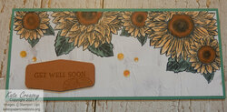 Celebrate sunflowers card