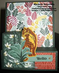 Wild cats step fold jungle tiger