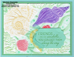 Friends are like seashells blended shells watermark