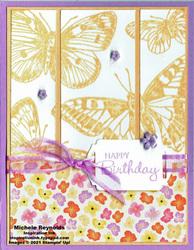 Butterfly brilliance triptych butterfly birthday watermark