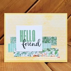 Yellow friend fromwhereistamp