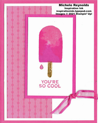Sweet ice cream cool berry popsicle watermark
