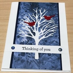 Thinking of you white tree branches