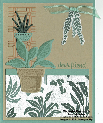 Plentiful plants lattice planter watermark