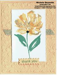 Art gallery golden papaya flower watermark