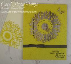 Stampin up celebrate sunflowers carolpaynestajmps1
