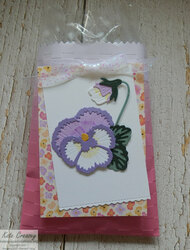 Ombre gift bag pansy patch