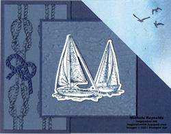 Sailing home corner tuck fold watermark