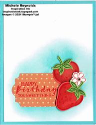 Sweet strawberry simple berry bunch watermark