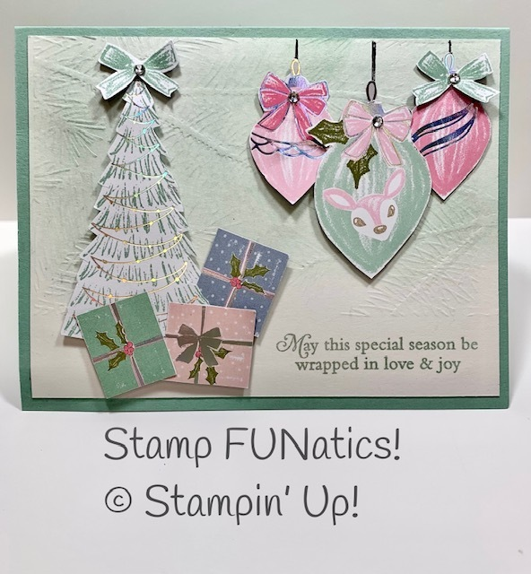 Whimsy   wonder with perfectly plaid card