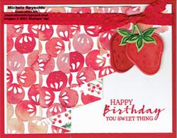 Sweet strawberry drapery watermark