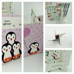Penguin place pinwheel collage