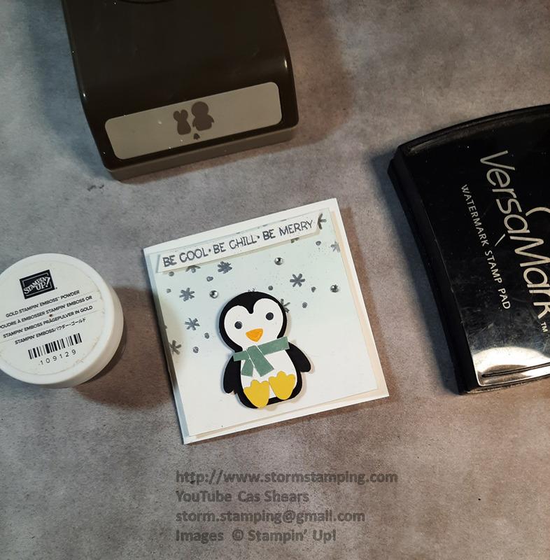 Mini penguin place card
