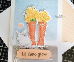 Bunny and boots card