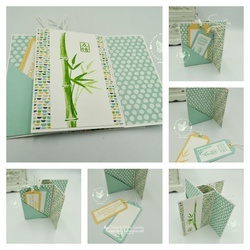 Bamboo beauty pinwheel collage