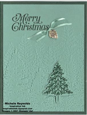 Perfectly plaid evergreen pine watermark