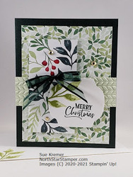 Stampin up painted christmas north star stamper