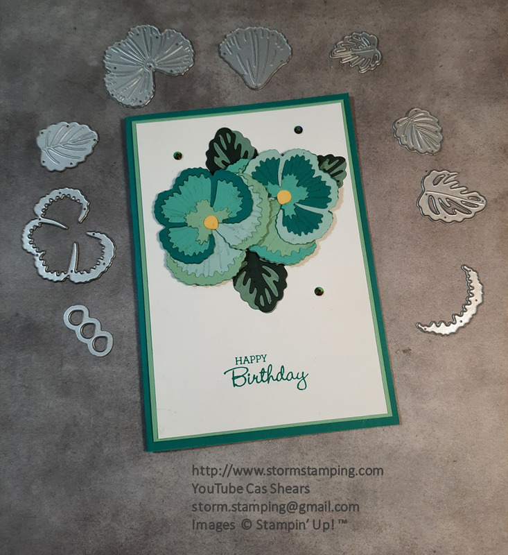 Pansy petals card