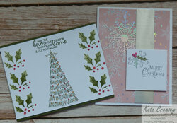 Whimsical trees holly border punch duo