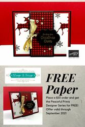 Free designer series paper with a  50 order  cordinates with the hand penned bundle  2