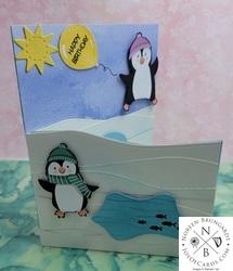 Penguin place   playmates card  2